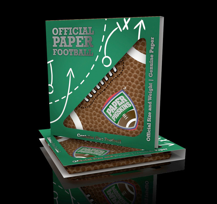 3D Paper Football Packaging Illustration