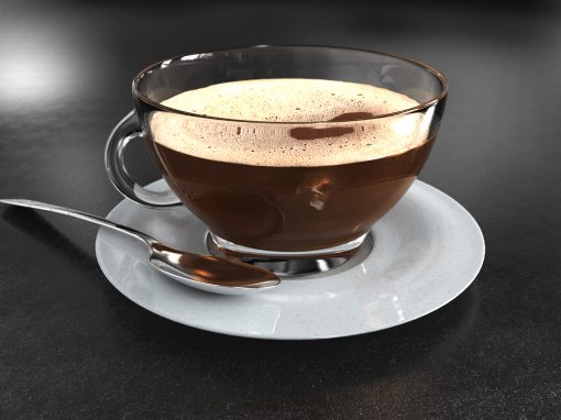 3D Coffee and Cup Image